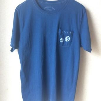 天然藍染 半袖Tシャツ 男性用L 綿