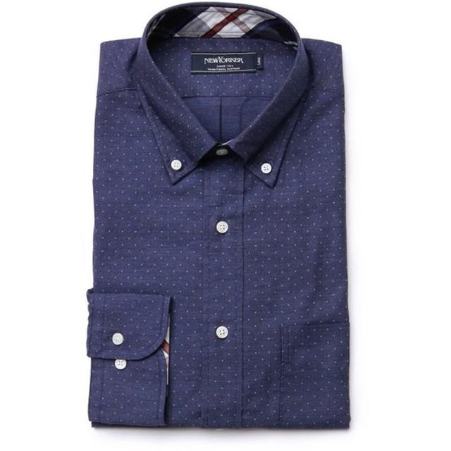 NEWYORKER / ドットプリント / 長袖ショートボタンダウンシャツ