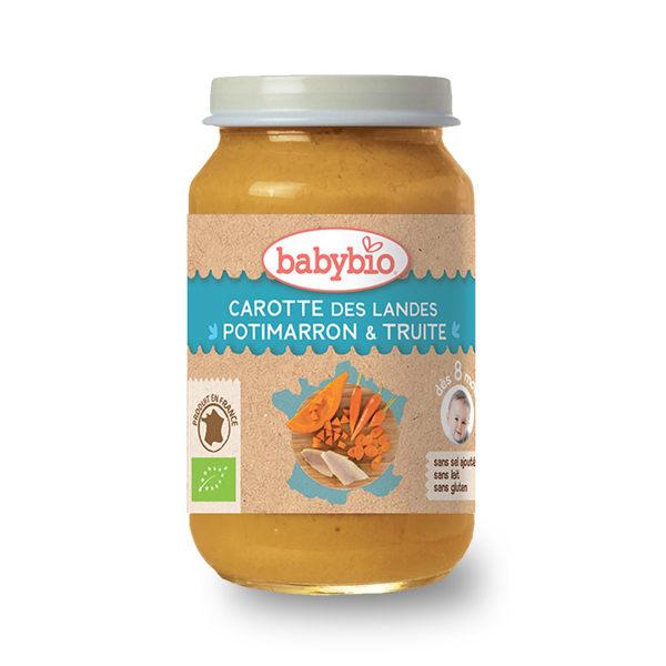 法國Babybio 生機鮮蔬鱒魚泥200g