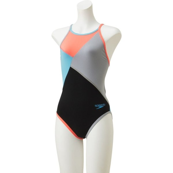 スピード 水泳 カラーブロックターンズスーツ 競泳 水着