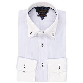【m.f.editorial:トップス】形態安定レギュラーフィットドゥエボットーニボタンダウン2枚衿長袖ビジネスドレスシャツ