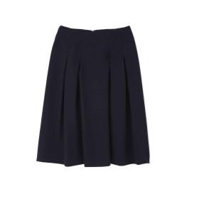 【公式/NATURAL BEAUTY BASIC】[洗える]ボックスタックフレアスカート/女性/スカート/ネイビー/サイズ:S/(表生地)ポリエステル 94% ポリウレタン 6%(裏生地)ポリエステル 100%