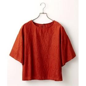 コットン総柄刺しゅうブラウス (ブラウス)Blouses, Shirts, 衫, 襯衫
