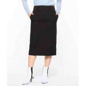 【オンワード】 CK CALVIN KLEIN WOMEN(CK カルバン・クライン ウィメン) 【2019SS COLLECTION】コットン2WAYストレッチ スカート ブラック 38 レディース 【送料無料】