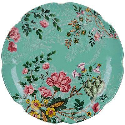 《CreativeTops》花園花邊餐盤(花卉青17cm)