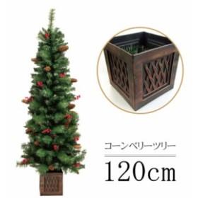 【クリスマスツリー 北欧】クリスマスツリー コーンベリーツリー120cm おしゃれ  ヌードツリー【pot】