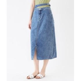 (titivate/ティティベイト)フロントスリットバックルデザインスカート/レディース ブルー