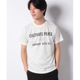 (ikka/イッカ)汗染み軽減ロゴTシャツ/メンズ ホワイト