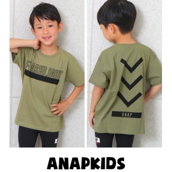 ANAP KIDS アナップキッズ ロゴプリントビッグTシャツ