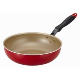 evercook 炒め鍋28cm レッド  オール熱源対応 | 4549549046842(tc)