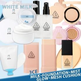 ネコポスで翌日到着 韓国コスメ 3CE 3ce face BOX ミルクコレクション ミルククリーム ミルククッション ミルクマスク マット ファンデーション パウダー ミスト