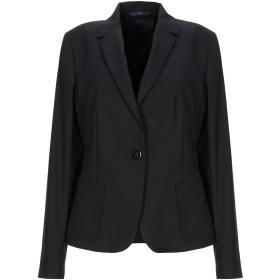 《セール開催中》BLUE LES COPAINS レディース テーラードジャケット ブラック 42 コットン 49% / ナイロン 44% / ポリウレタン 7%