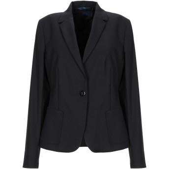 《期間限定セール開催中!》BLUE LES COPAINS レディース テーラードジャケット ブラック 42 コットン 49% / ナイロン 44% / ポリウレタン 7%