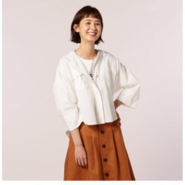 【SALE開催中】【FREDY & GLOSTER:トップス】ブロード胸ポケットシャツブルゾン