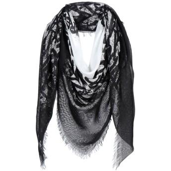 《9/20まで! 限定セール開催中》DSQUARED2 メンズ スカーフ ブラック レーヨン 100%