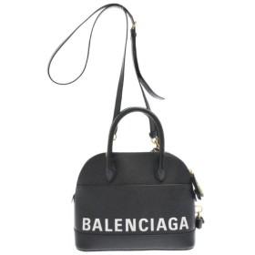 BALENCIAGA(バレンシアガ)518873 1000 ヴィル トップ ハンドル レザーハンドバッグ ショルダー