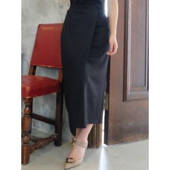 ミニスカート - RESEXXY ランダムリブラップロングスカート