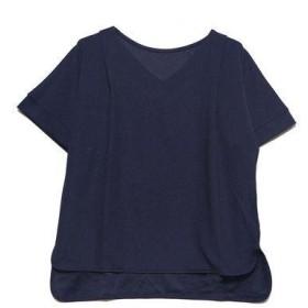プライベートビーチ privatebeach Europeフライス ショルダータックデザインTシャツ (ネイビー)