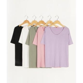 (3rd Spring/サードスプリング)MICHYEORA(ミチョラ)UネックTシャツ-/レディース ピンク