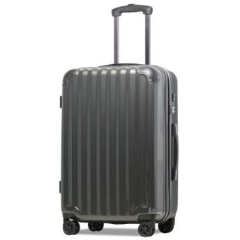 (tavivako/タビバコ)【JP-Design】スーツケース LMサイズ 静音8輪キャスター 軽量 大容量 拡張 TSAロック 受託手荷物無料 キャリーバッグ キャリーケース/ユニセックス ガンメタリック 送料無料