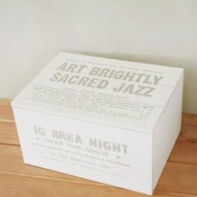 木箱 ふた付 ボックスNo.6 大 ホワイト インテリア/収納 ボックス/収納ケース/小物入れ BREA