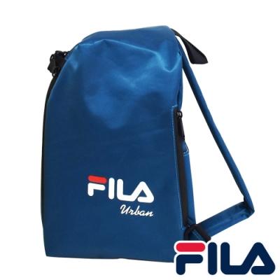 FILA 三角立體單肩包-寶藍色