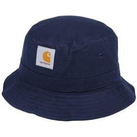 《期間限定 セール開催中》CARHARTT メンズ 帽子 ダークブルー S/M コットン 100%