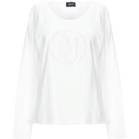 《期間限定セール開催中!》ARMANI JEANS レディース T シャツ ホワイト 48 コットン 96% / ポリウレタン 4%