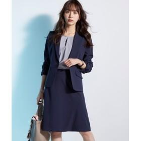 【リスピィシリーズ】洗えるタテヨコ2WAYストレッチセミフレアスカートスーツ (大きいサイズレディース)スーツ,women's suits ,plus size