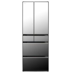 【無料長期保証】日立 R-KX57K-X 6ドア冷蔵庫(567L・フレンチドア) クリスタルミラー