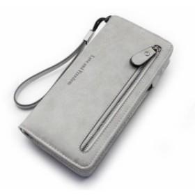 長財布 レディース 大容量 PU レザー ラウンドファスナー ウォレット タッセル付き かわいい カード 多機能 小銭入れ ストラップ 無地