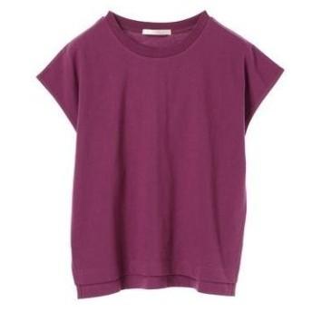 グリーンパークス Green Parks USAコットンフレンチスリーブTシャツ (Purple)