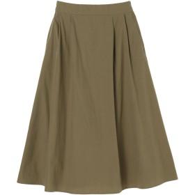 【6,000円(税込)以上のお買物で全国送料無料。】ミディ丈タックギャザースカート