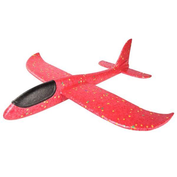 泡沫飛機手拋玩具戶外兒童投擲大號網紅拼裝回旋航模型發光滑翔機 城市科技DF