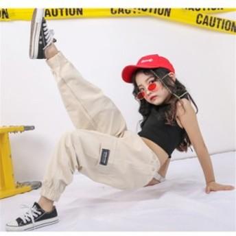 【タンクトップ】子供 ダンス 上下2点衣装 ヒップホップ ダンストップス HIPHOP キッズダンス衣装 ステージ衣装 ジャズダンス ウエア 衣