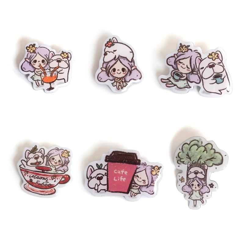 【限量】喵寶插畫金屬徽章 - 共六款