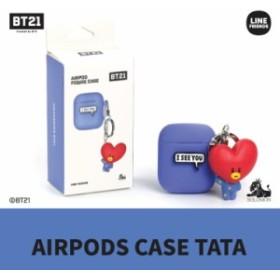 BT21 Airpods用 Case フィギュアキーホルダー付き シリコン ケース airpods カバー BT21 キャラクター Apple AirPods2 第2世代 収納可能