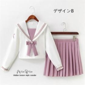 ツーピース 学生 2点セット セーラー服 ゴスロリ 制服 ミニスカート 少女風 フリル マラン刺繍 JK ゆめかわいい