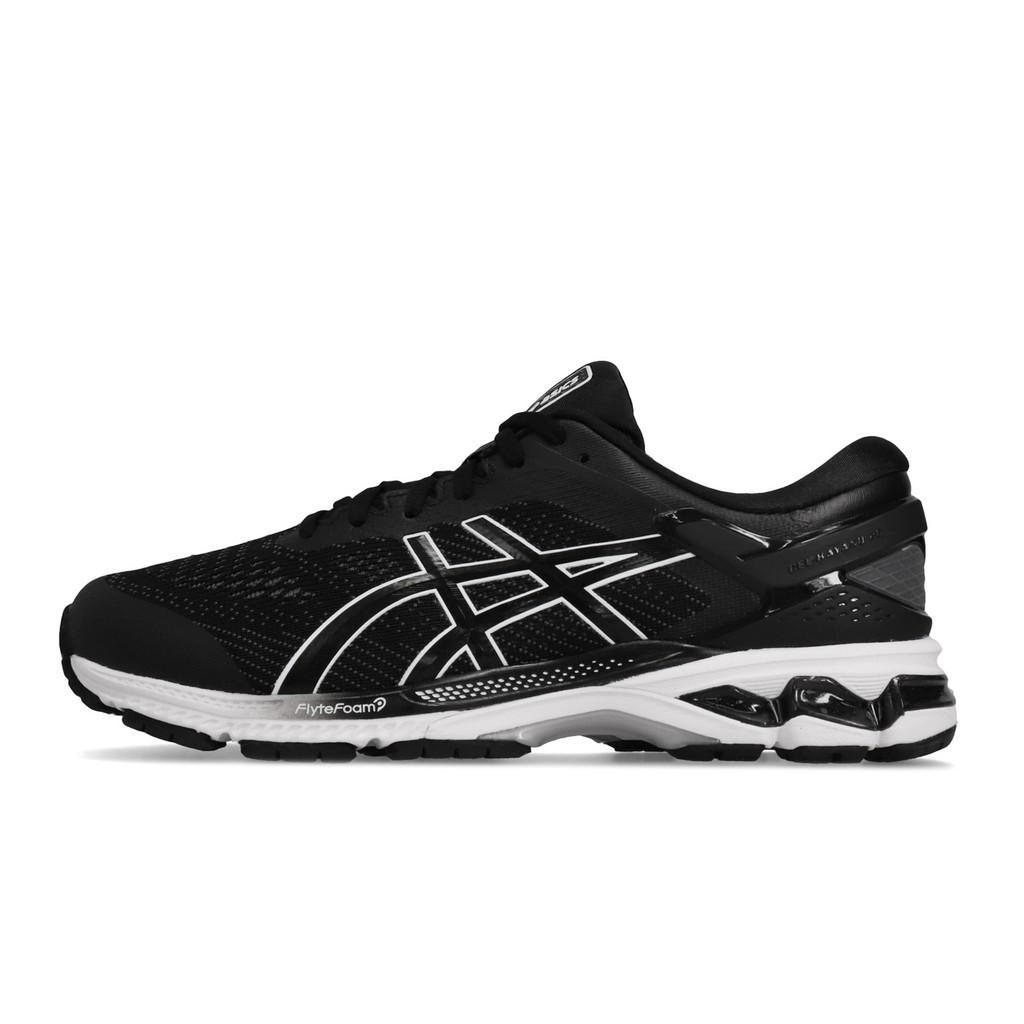 Asics 慢跑鞋 Gel-Kayano 26 黑 白 運動鞋 男鞋 1011A542-001 亞瑟士 【ACS】