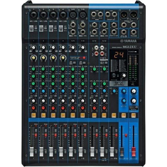 方便處理人聲、吉他、貝士或其他音源,只要適當調整,可減少音色失真與增加音頻動態◎MG12XU 12軌中小型混音器,無論它的功能、音質或操作介面是其他廠牌同軌數Mixer中,音質佳、功能最為實用的混音器