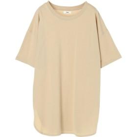 【6,000円(税込)以上のお買物で全国送料無料。】裾ラウンドチュニックTシャツ