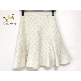 ジャスグリッティー JUSGLITTY スカート サイズ0 XS レディース 美品 白×ゴールド ツイード 新着 20190712