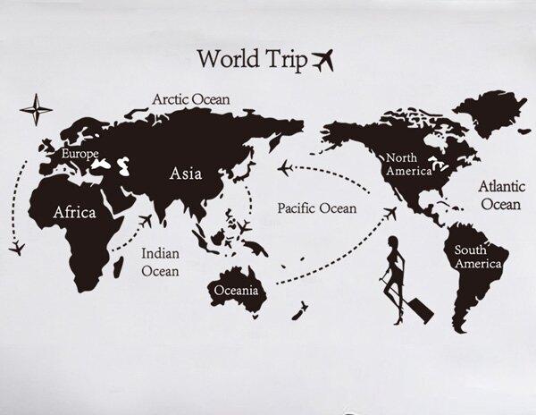Loxin可移動 時尚組合相框壁貼 牆貼 壁貼紙 創意璧貼 世界地圖【YV2634】
