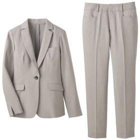 【レディース】 パンツスーツ(洗濯機OK・形態安定) - セシール ■カラー:ライトグレー ■サイズ:11AR67,19ABR88,13ABR76,15ABR80,13AR70,9AR64,17ABR84,21ABR92,7AR61