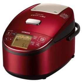 【中古】日立 圧力スチームIHジャー炊飯器 ふっくら御膳 5.5合炊き RZ-BV100M(R) メタリックレッド 展示品