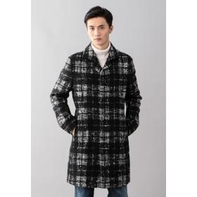 EPOCA UOMO ループツィードバルカラーコート その他 コート,ブラック
