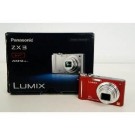 【中古】Panasonicパナソニック コンパクトデジタルカメラ LUMIXルミックス 1410万画素 DMC-ZX3-R レッド