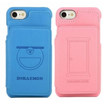 (予約)iPhone8/7 対応 ケース ドラえもん カードフラップケース カードケース付 フラップケース 四次元ポケット どこでもドア