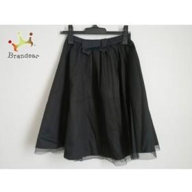 ギャラリービスコンティ GALLERYVISCONTI スカート サイズ2 M レディース 美品 黒 リボン  値下げ 20191008