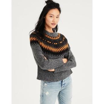 【アメリカンイーグル】AEフェアアイルモックネックセーター
